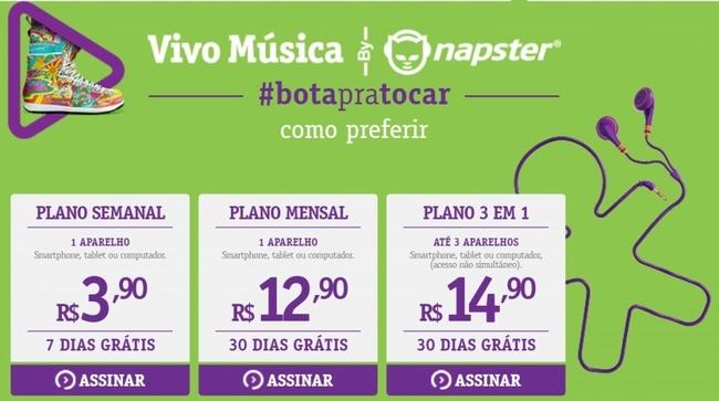 vivo música preços