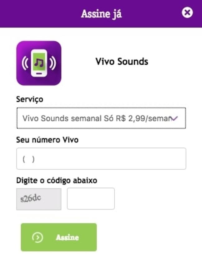 vivo som de chamada app store