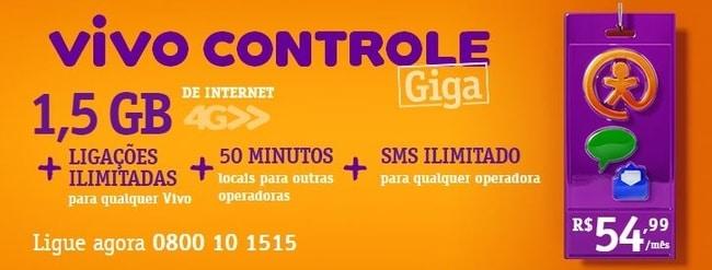 vivo controle planos internet