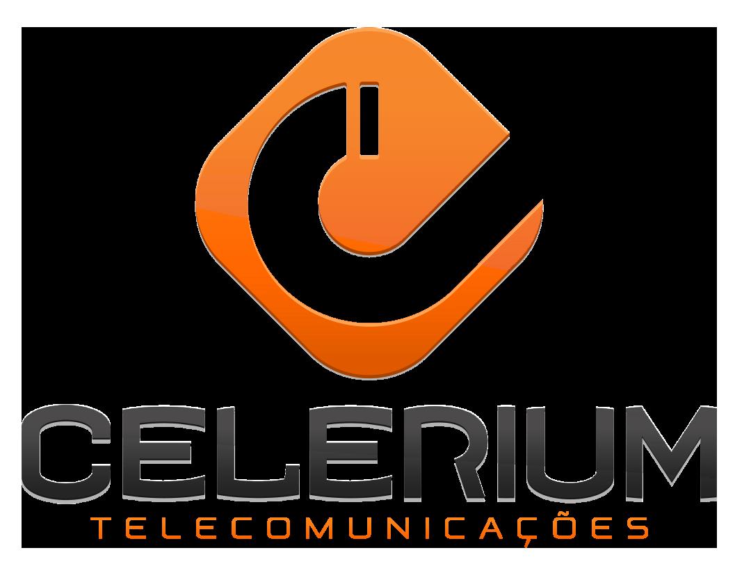 Logo celerium telecomunicações