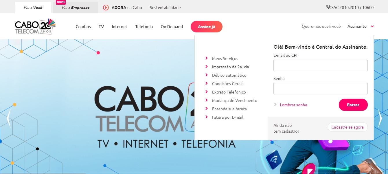 cabo telecom 2 via