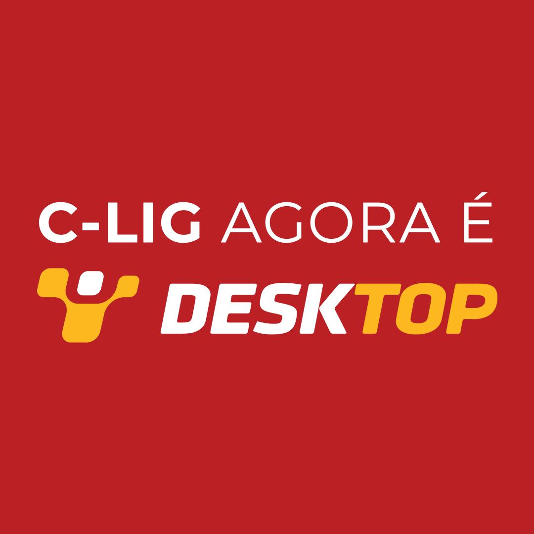 Logo C-Lig Agora é Desktop